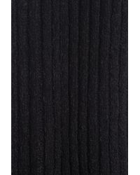 Lolë Ribbed Knit Scarf - Black