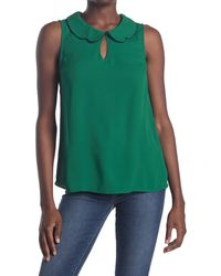 ModCloth Your True Colors Peter Pan Collar Blouse - Green