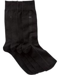 Calvin Klein - Assorted Dress Crew Socks - Pack Of 4 - Lyst