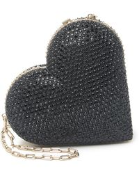 Valentino - Jeweled Heart Minaudiere Crossbody Bag In Nero At Nordstrom Rack - Lyst