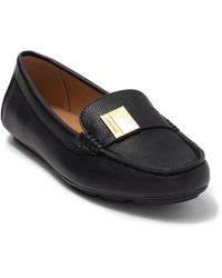 Calvin Klein Lisa Tumbled Leather Loafer - Black