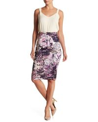 Eci - Floral Scuba Pencil Skirt - Lyst