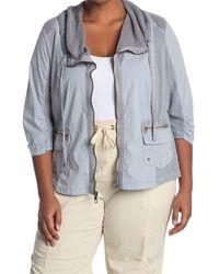 XCVI Reservoir Mesh Collar Jacket - Blue