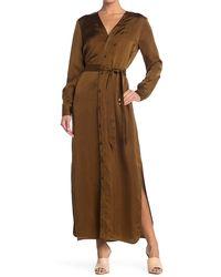 Billy Reid Paneled Robe Dress - Green