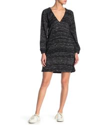 Lucky Brand Long Sleeve Sweater Dress - Black