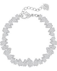 Swarovski - Gemina Pave Crystal Butterfly Bracelet - Lyst