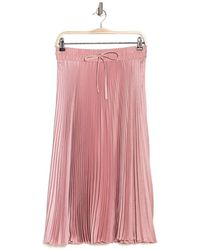 RED Valentino High Waist Pleat Maxi Skirt - Pink