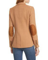 Veronica Beard Hudson Plaid Wool Blend Dickey Jacket - Natural