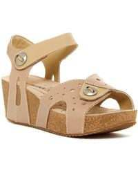 Romika - Florida Buttoned Platform Wedge Sandal - Lyst