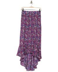Nanette Lepore Shayla High Low Skirt - Purple