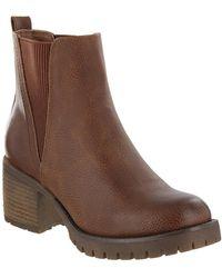 MIA - Jody Ribbed Block Heel Chelsea Boot - Lyst