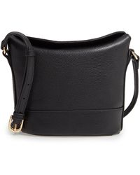 Nordstrom Bethany Leather Bucket Bag - Black