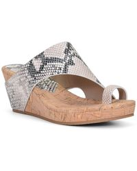 Donald J Pliner Gyer Leather Python Print Wedge Sandal - Multicolor