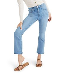 Madewell Cali Demi-boot Jeans With Coolmax® Denim - Blue