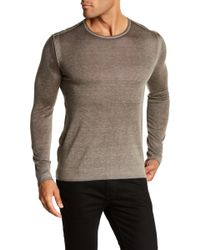 John Varvatos - Crew Neck Pullover Sweater - Lyst