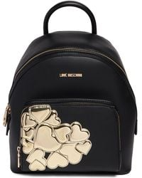Love Moschino - Metallic Hearts Pu Leather Backpack - Lyst