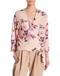 Dress Forum - Floral Wrap Top - Lyst