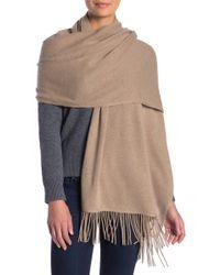 Portolano Solid Cashmere Wrap - Brown