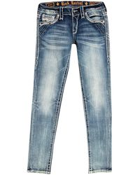 Rock Revival Ankle Skinny Jeans - Blue