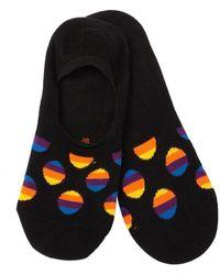Happy Socks Sunrise Dot Liner Socks - Black