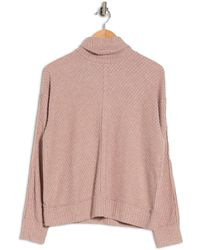 Heather by Bordeaux Mixed Waffle Turtleneck Sweater - Multicolor