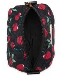 Marc Jacobs Quilted Large Printed Cosmetic Case - Black
