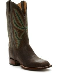 Lucchese - Genuine Leather Cowboy Boots - Lyst