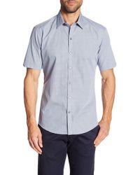 Zachary Prell - Kraft Short Sleeve Modern Slim Fit Shirt - Lyst