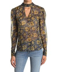 Veronica Beard Wade Paisley Silk Blend Keyhole Blouse - Multicolor