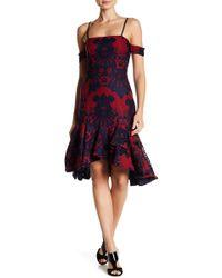 Alexia Admor | Cold Shoulder Flounce Hem Lace Dress | Lyst