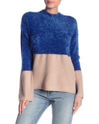 Olive & Oak - Monaco Fuzzy & Ribbed Knit Sweater - Lyst