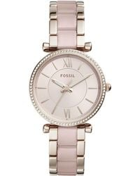 Fossil - Women's Carlie Bracelet Watch, 35mm - Lyst