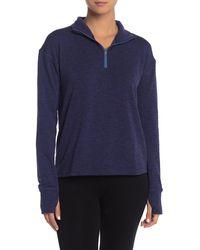Outdoor Voices Ov Fleece Half Zip Pullover - Blue