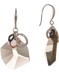Robert Lee Morris - Tricolor Ring & Stone Drop Earrings - Lyst