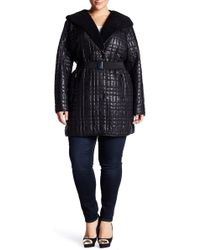 Kenneth Cole - Packable Faux Fur Lined Quilted Coat (plus Size) - Lyst