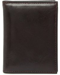 BRAND NEW NWT TRAFALGAR TWO TONE TRIPLE LEATHER BROWN WALLET WITH CLIP