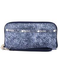LeSportsac Tech Wallet Wristlet - Blue