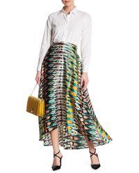 Eva Franco - Gondola Print Hi-lo Skirt - Lyst
