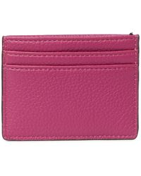 Calvin Klein Logo Paque Card Case - Purple