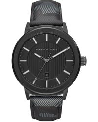 Armani Exchange - Men's Camo Leather Street Watch, 46mm - Lyst
