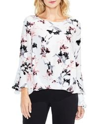 Vince Camuto - Lily Melody Bell Sleeve Top (petite) - Lyst