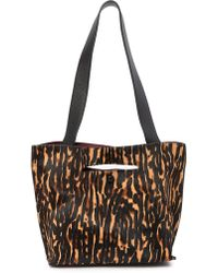 Sondra Roberts - Fur Medium Leather Tote Bag - Lyst
