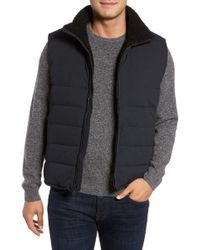Andrew Marc - Quilted Down Vest W/ Faux Shearling Lining - Lyst