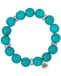 The Sak - Simulated Turquoise Beaded Stretch Bracelet - Lyst