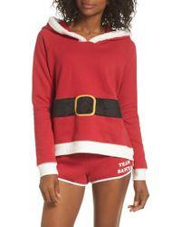 Cozy Zoe Holiday Spirit Pajamas - Red