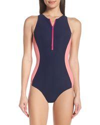 Flagpole Swim Stella One-piece Swimsuit - Blue