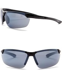 Timberland - Men's 74mm Polarized Wrap Sunglasses - Lyst