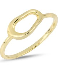 Bony Levy - 14k Yellow Gold Organic Open Circle Accent Ring - Lyst