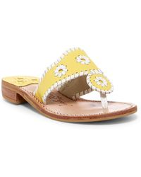 Jack Rogers - Whipstitched Thong Sandal - Lyst