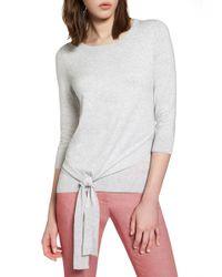 Halogen - Pima Cotton Blend Tie Sweater - Lyst